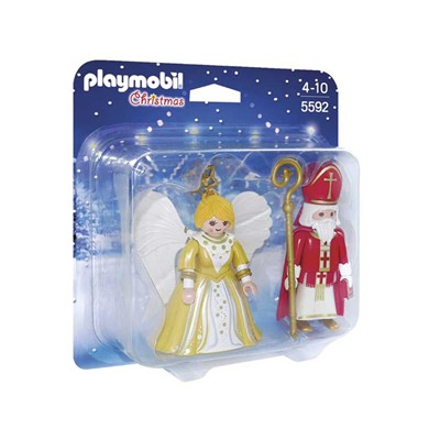 PLAYMOBIL Saint Nicolas et Ange doré - Figurines - multicolore