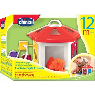 CHICCO Animal Cottage - Boîte à formes - multicolore