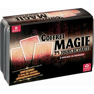 CARTAMUNDI COFFRET METAL MAGIE 25TOURS - multicolore