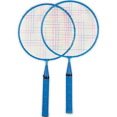 WDK PARTNER Lot de 2 raquettes de badminton - multicolore