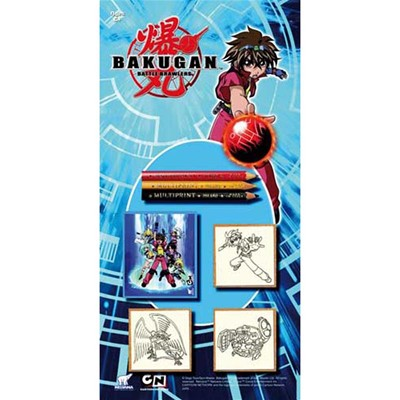 MULTIPRINT Paquet de 3 tampons Bakugan - multicolore