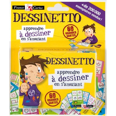 FRANCE CARTES Dessinetto - Lot de 60 cartes à dessins - multicolore