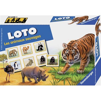RAVENSBURGER Loto animaux sauvages - multicolore