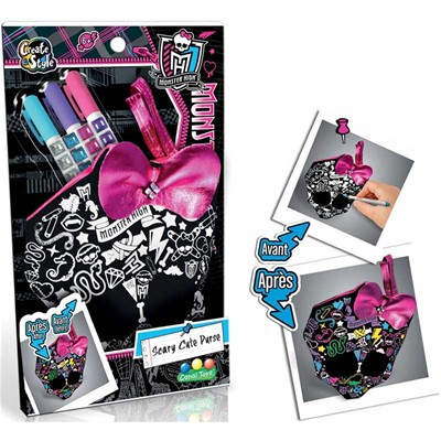 Canal Toys monster high - porte monnaie à colorier - multicolore