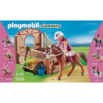 PLAYMOBIL Country - Cheval Shagya et cavalière - multicolore