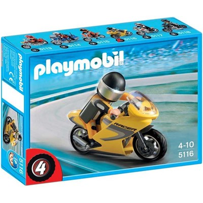PLAYMOBIL Sports & action - Moto de course - multicolore
