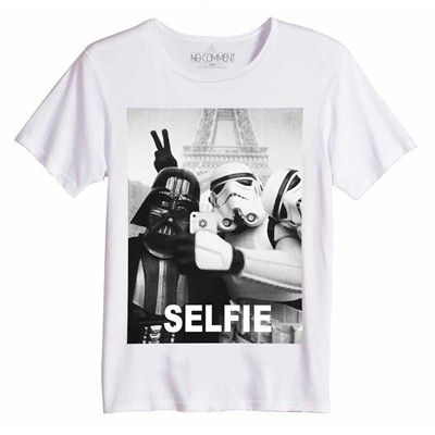 NO COMMENT PARIS Selfie - Top/tee-shirt - blanc