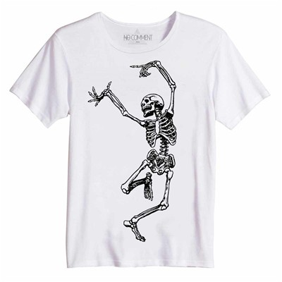 NO COMMENT PARIS skull dancing - Top/tee-shirt - blanc