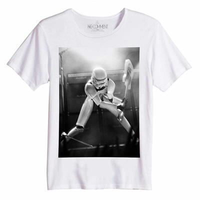 NO COMMENT PARIS Destroy trooper - Tops, T-Shirts - blanc