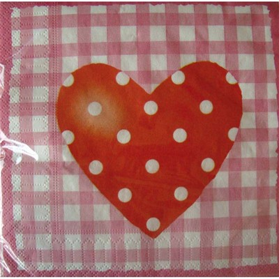 RIETHMÜLLER Sweet Love - Paquet de 20 serviette de table - multicolore