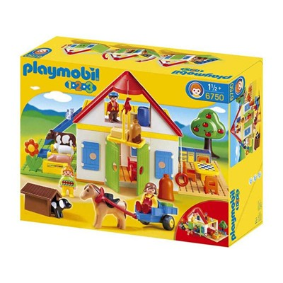 PLAYMOBIL 123 - Coffret grande ferme - multicolore