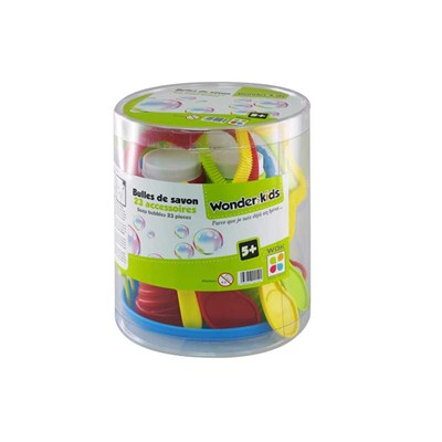 WONDERKIDS Baril de 4 bulles de savon 118 ml - multicolore
