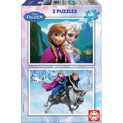 Frozen - Lot de 2 puzzle 48 pièces - multicolore
