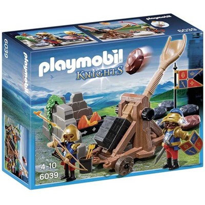 PLAYMOBIL Chevalier aigle et catapulte - multicolore
