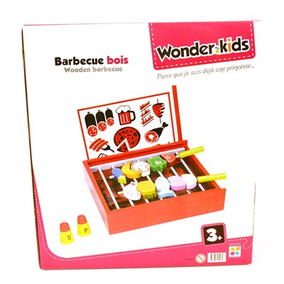 WDK PARTNER Barbecue en bois - multicolore