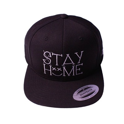 CHILLGREEN Casquette Snapback Stay Home - noir
