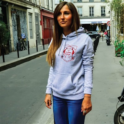 CHILLGREEN Cheerleaders - Sweat à capuche - gris chine