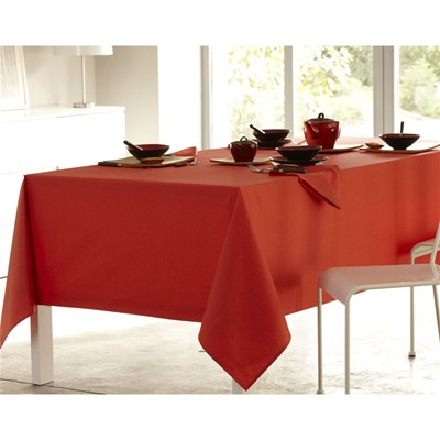 BECQUET Lot de 3 serviettes de table en métis micro enduit - orange