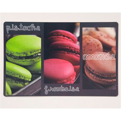 BECQUET Lot de 4 sets de table - macarons