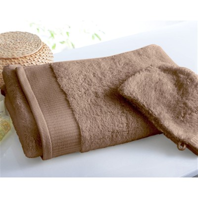 BECQUET Lot de 2 gants de toilette - taupe