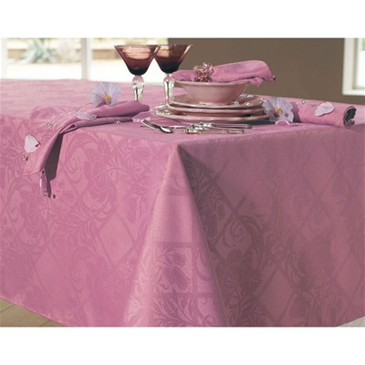 BECQUET Lot de 3 serviettes de table damassées en polyester - marron bois de rose
