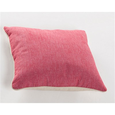 BECQUET Lot de 2 coussins chambray - rouge