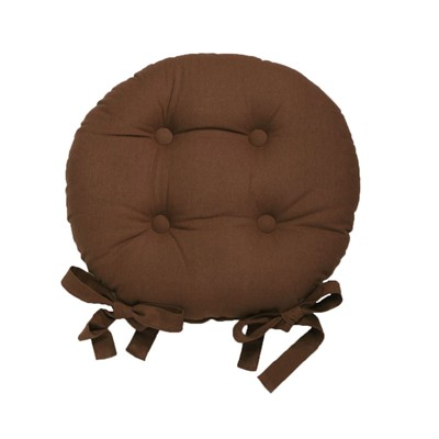 BECQUET Lot de 2 galettes de chaise - marron