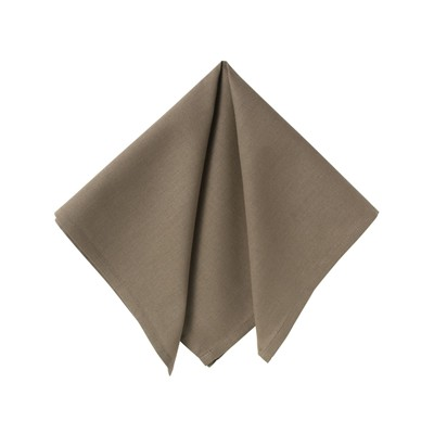 BECQUET Lot de 6 serviettes de table - moka