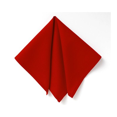 BECQUET Lot de 6 serviettes de table - rouge