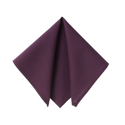 BECQUET Lot de 6 serviettes de table - aubergine