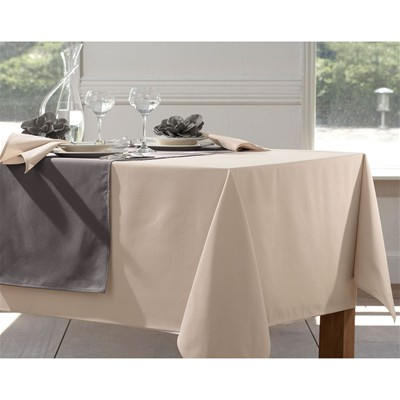 BECQUET Lot de 3 serviettes entretien facile - marron beige