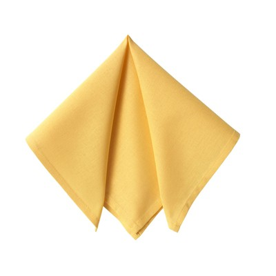 BECQUET Lot  de 6 serviettes de table - jaune mais