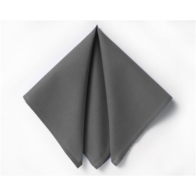 BECQUET Lot de 6 serviettes unies - anthracite