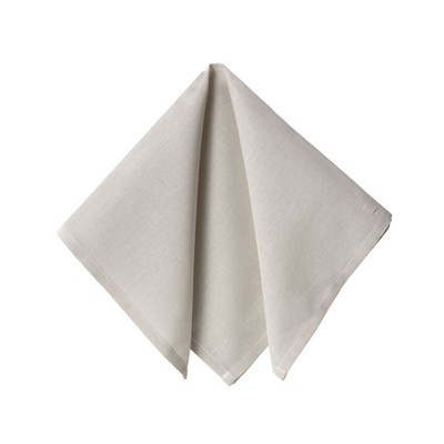 BECQUET Lot de 6 serviettes de table - blanc grège