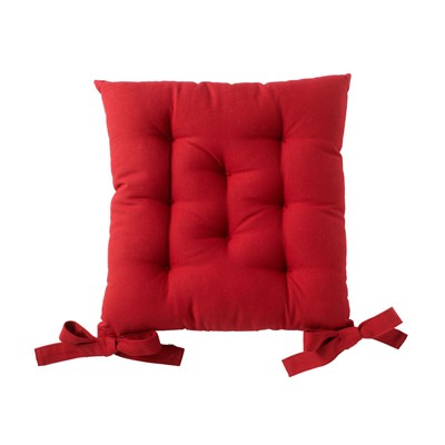 BECQUET Lot de 2 galettes de chaise - rouge brique