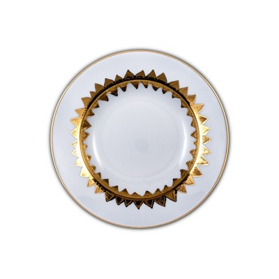 SITE COROT NEW ISIDORE - Assiette creuse Porcelaine de Limoges - OR
