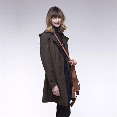 TRENCH AND COAT BABADA - Trench zippé à capuche - Vert kaki