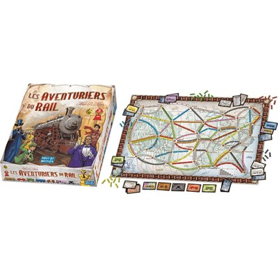 Asmodee Editions les aventuriers du rail - multicolore