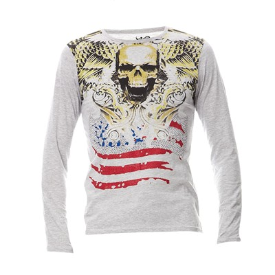 AMERICAN PEOPLE T-shirt - gris