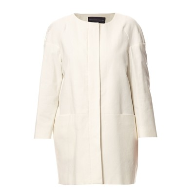 French Connection Blanc Connection Manteau French Manteau 7PR5Yyqw