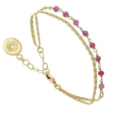 Ava - Bracelet multi-rangs - rose
