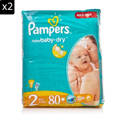 New Baby - Lot de 2 packs x 80 couches - T2 3-6KG