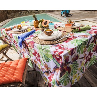 BECQUET Nappe imprimé tropical - multicolore