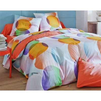 BECQUET Drap-housse petit semis orange - multicolore