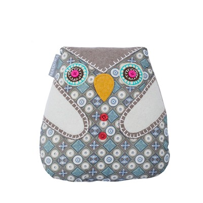 MADURA Magic Owl Gris moyen - Coussin - gris