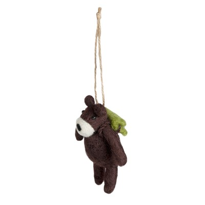 MADURA Mini Ours - Pompon - marron