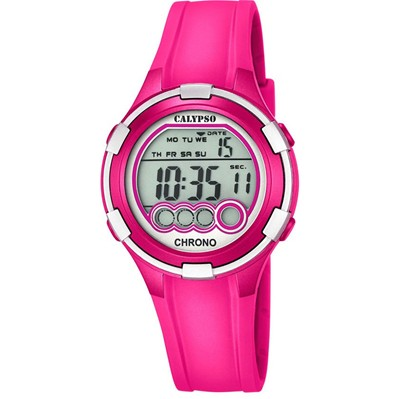 Montre digitale - fuchsia