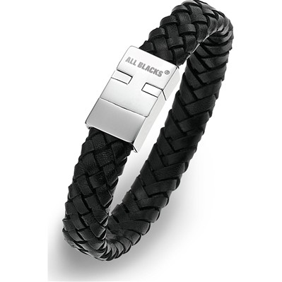 All Blacks bracelet en cuir - noir