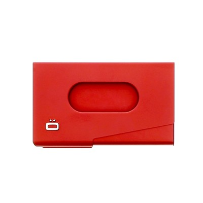 ÖGON DESIGNS One Touch - Porte-cartes de visite - rouge