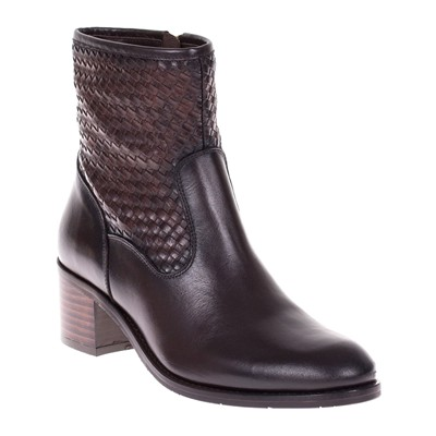 Bottines en cuir - marron